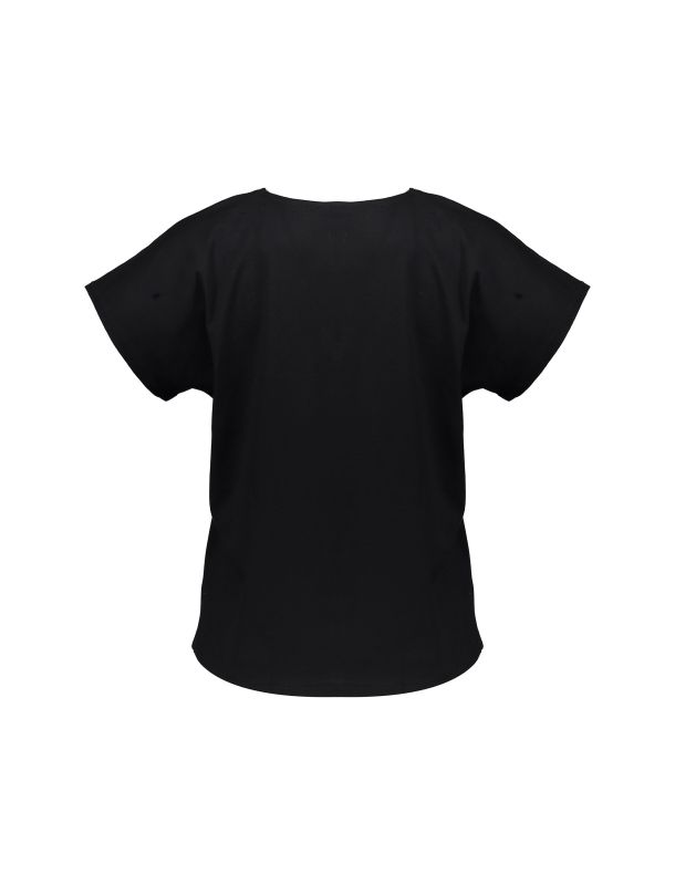 تی شرت نخی یقه هفت زنانه - مانگو