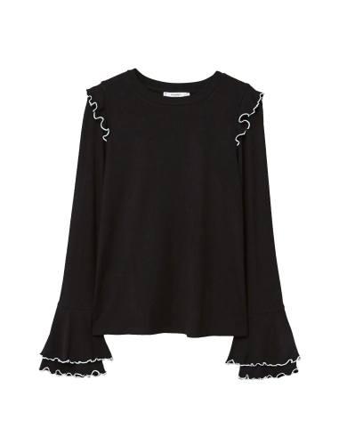 تی شرت ویسکوز آستین بلند زنانه - مانگو