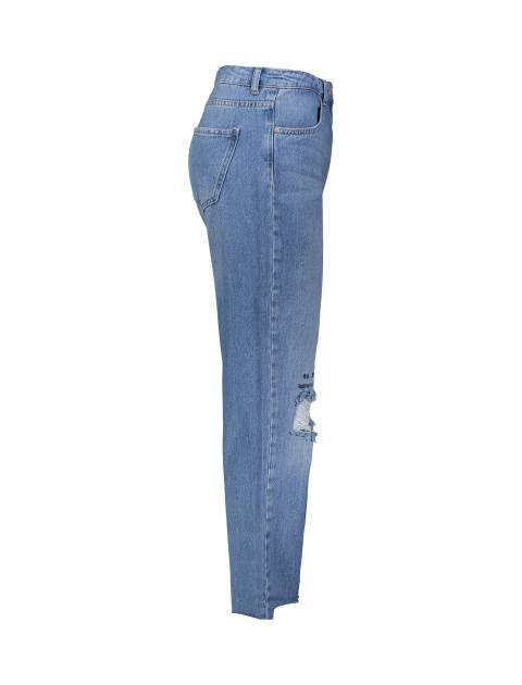 شلوار جین راسته زنانه - آبي - 4