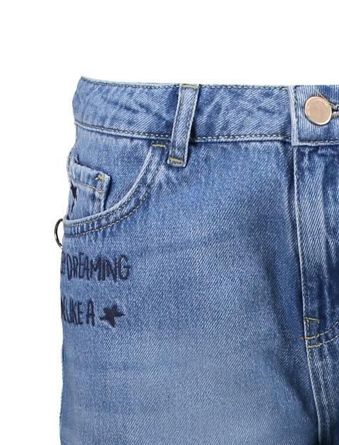 شلوار جین راسته زنانه - آبي - 5