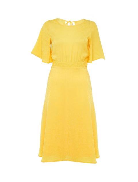 پیراهن میدی زنانه - زرد - 1