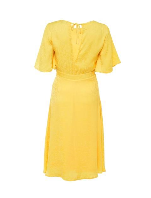 پیراهن میدی زنانه - زرد - 2