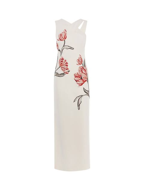 پیراهن بلند زنانه - کارن میلن - سفيد - 1