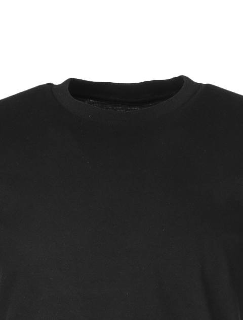 تی شرت نخی یقه گرد مردانه - یونیتی - مشکي - 4
