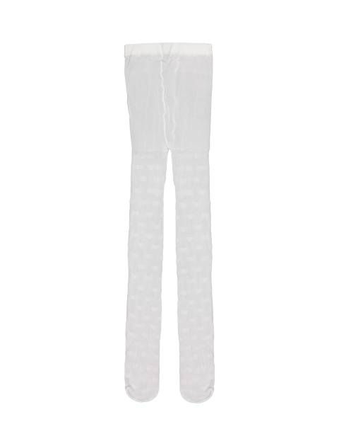 جوراب شلواری دخترانه - سفيد - 1