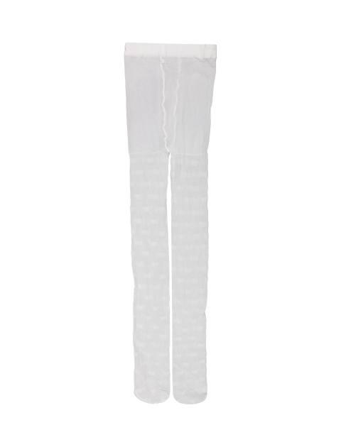 جوراب شلواری دخترانه - سفيد - 4