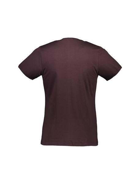 تی شرت نخی یقه گرد مردانه - قهوه اي - 2