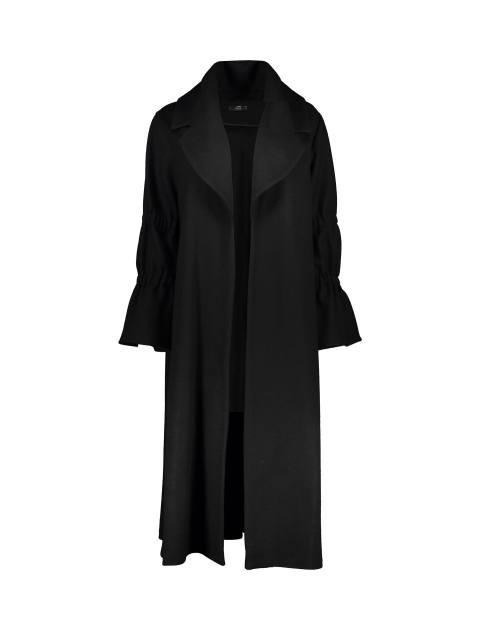 پالتو بلند زنانه - مشکي - 1