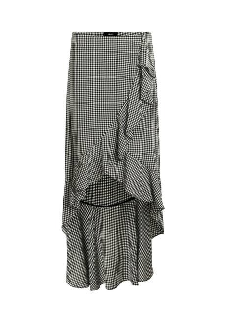 دامن ویسکوز بلند زنانه - مشکي سفيد - 1