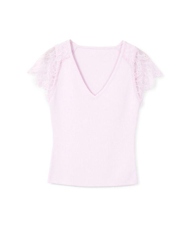 تی شرت ویسکوز آستین کوتاه زنانه - مانگو