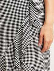 دامن ویسکوز بلند زنانه - مشکي سفيد - 3