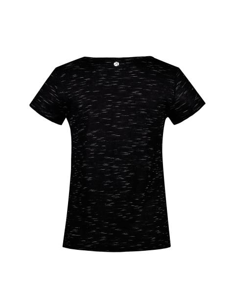 تی شرت ویسکوز یقه گرد زنانه - مشکي - 2