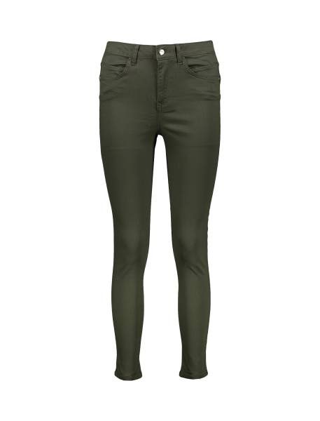 شلوار جین جذب زنانه - سبز  - 1