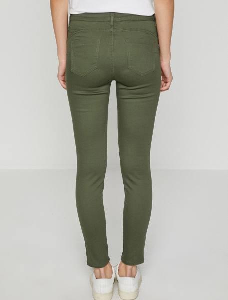 شلوار جین جذب زنانه - سبز  - 4