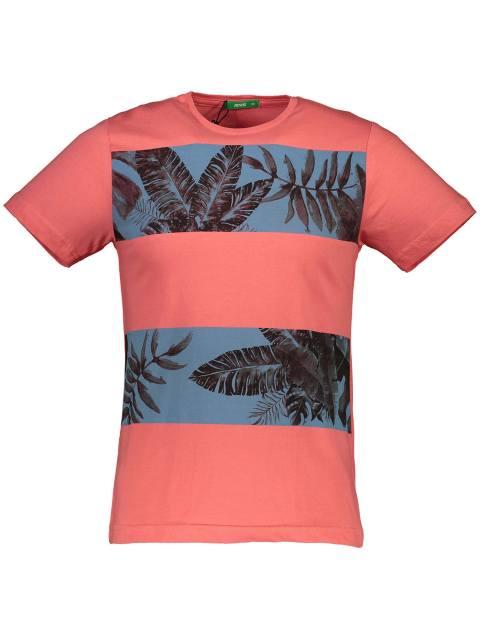 تی شرت نخی یقه گرد مردانه - گلبهي - 1