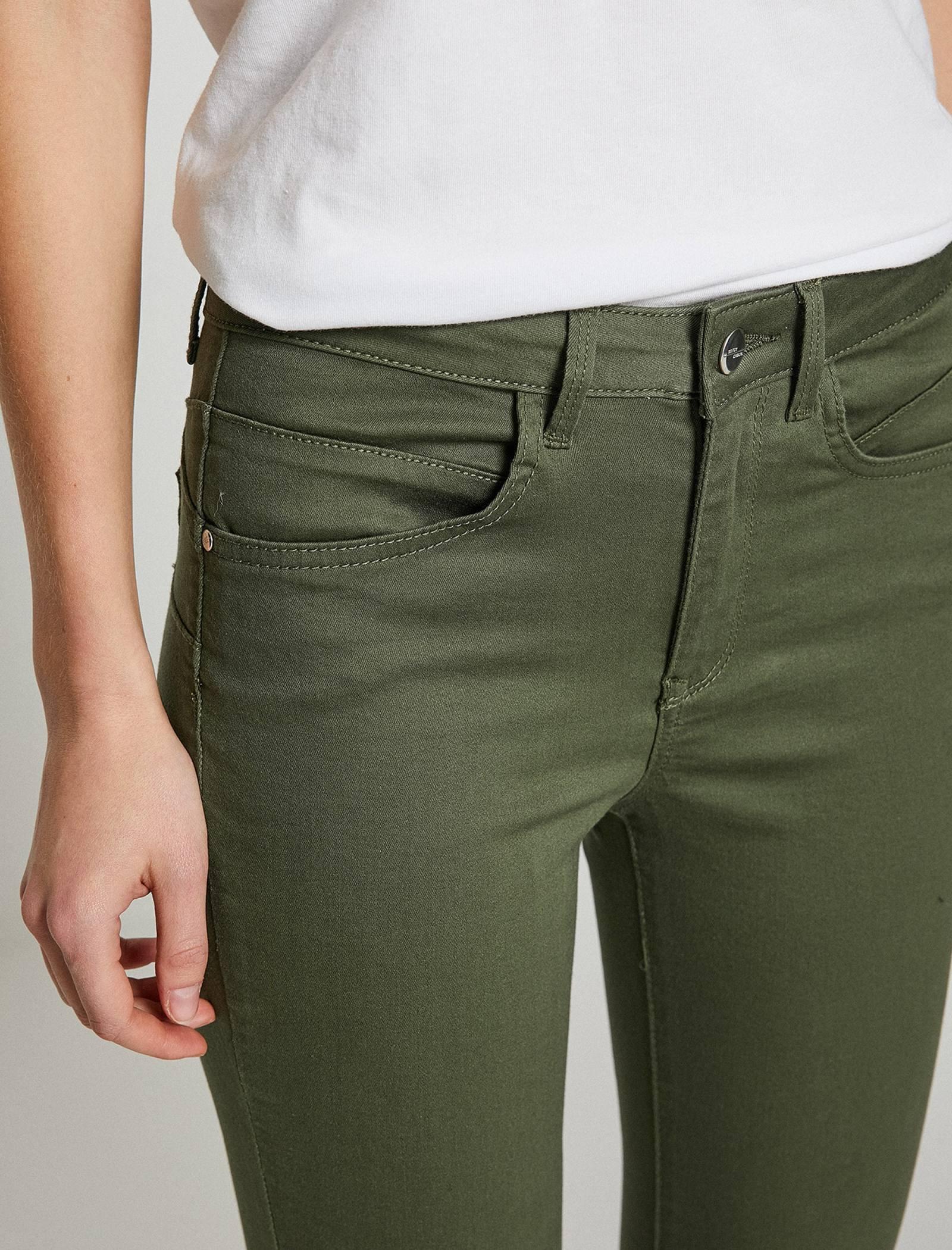 شلوار جین جذب زنانه - کوتون - سبز  - 5