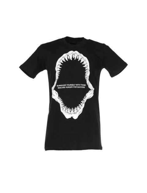 تی شرت نخی یقه گرد مردانه - یونیتی - مشکي - 1