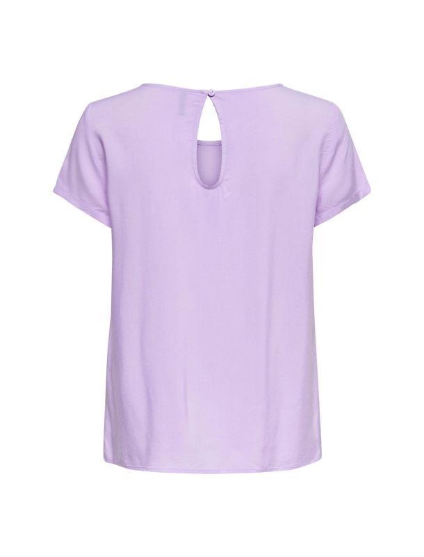 تی شرت ویسکوز یقه گرد زنانه - اونلی