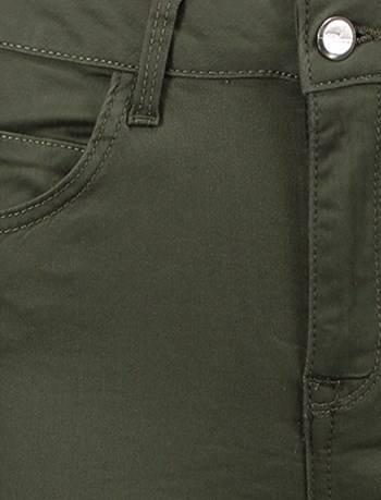 شلوار جین جذب زنانه - سبز  - 7
