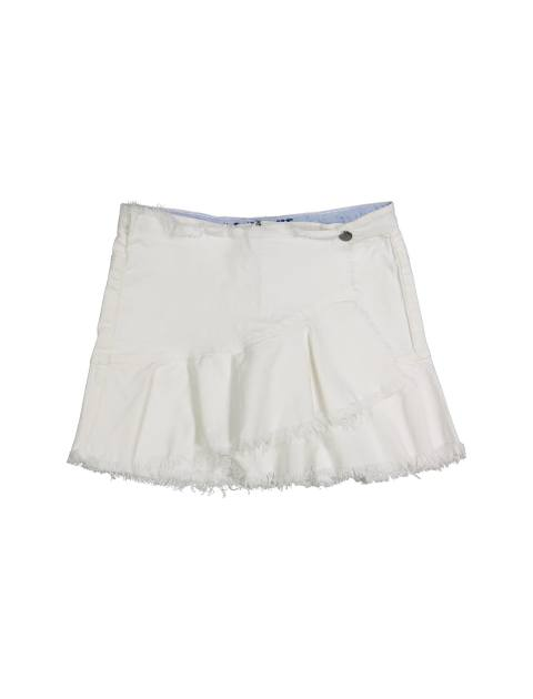 پیراهن نخی دخترانه - سفيد - 1
