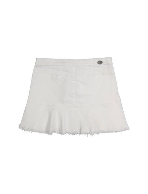 پیراهن نخی دخترانه - سفيد - 2