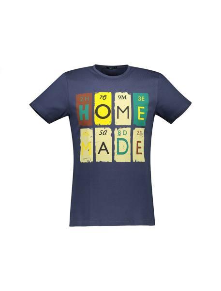تی شرت نخی یقه گرد مردانه - زغالي - 1