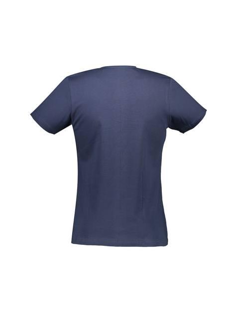 تی شرت نخی یقه گرد مردانه - آر اِن اِس - زغالي - 2