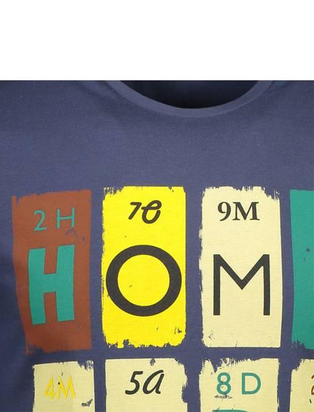 تی شرت نخی یقه گرد مردانه - زغالي - 4