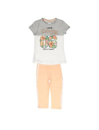 تی شرت و شلوارک نخی دخترانه - بلوکیدز