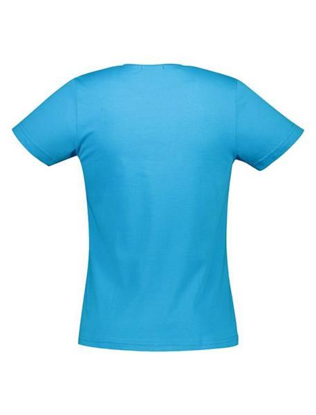 تی شرت نخی یقه گرد مردانه - آبي روشن - 3