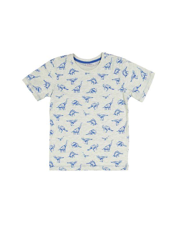 تی شرت نخی یقه گرد پسرانه بسته 3 عدی