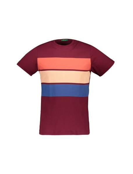 تی شرت آستین کوتاه مردانه - زرشکي - 1
