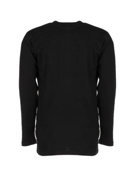 تی شرت آستین بلند مردانه - مشکي - 4