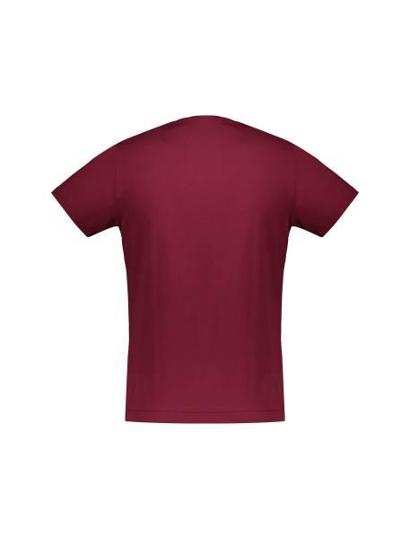 تی شرت آستین کوتاه مردانه - زرشکي - 2