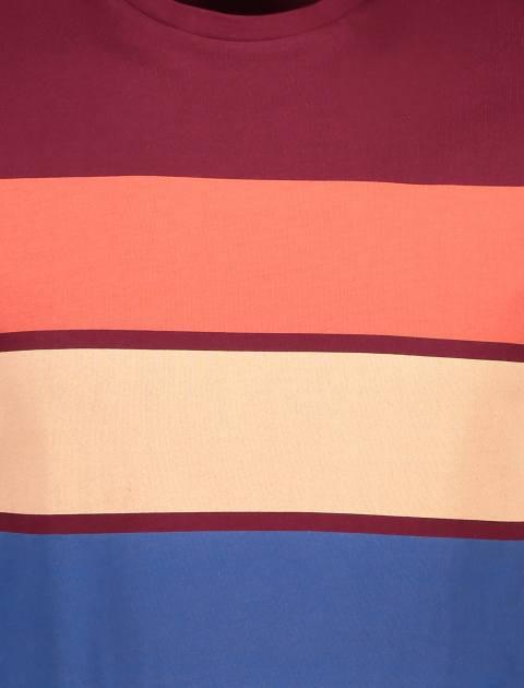 تی شرت آستین کوتاه مردانه - زرشکي - 5