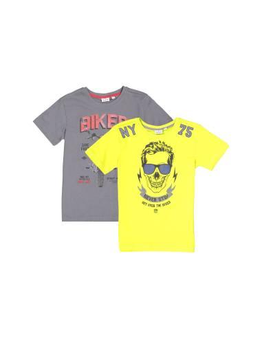 تی شرت نخی پسرانه بسته 2 عددی - بلوکیدز