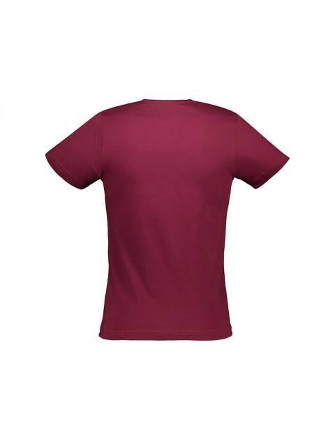 تی شرت نخی یقه گرد مردانه - آر اِن اِس - زرشکي - 2