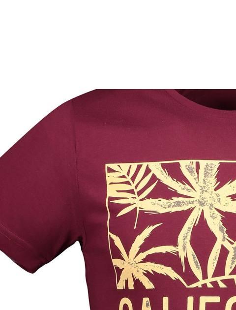 تی شرت نخی یقه گرد مردانه - آر اِن اِس - زرشکي - 4