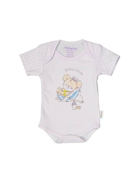 ست 3 تکه نخی نوزادی دخترانه - ياسي - 2