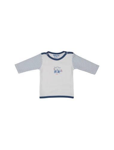 تی شرت نخی ساده نوزادی پسرانه - بی بی ناز