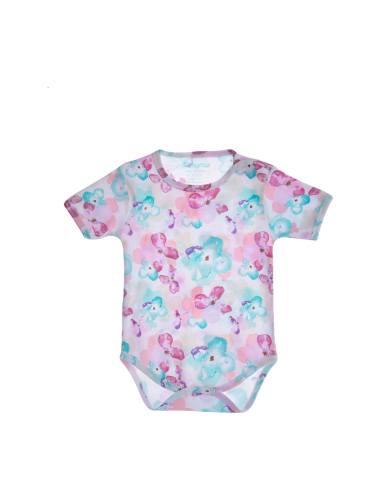 بادی نخی طرح دار نوزادی دخترانه - بی بی ناز