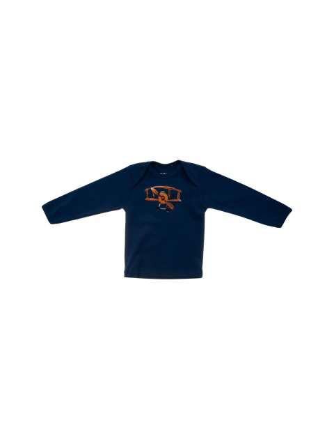 تی شرت نخی ساده نوزادی پسرانه - سون پون