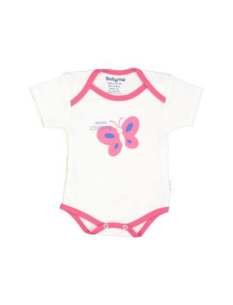 ست 3 تکه نخی نوزادی دخترانه - سفيد زرشکي - 2