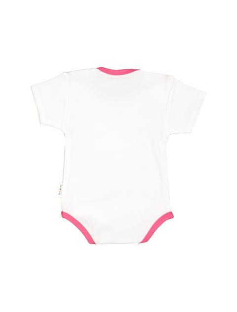ست 3 تکه نخی نوزادی دخترانه - سفيد زرشکي - 3