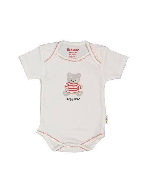 ست 3 تکه نخی نوزادی - استخواني زرشکي - 4