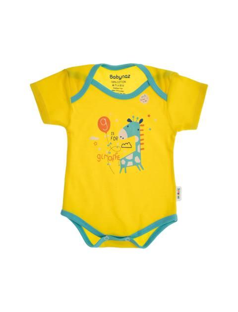 ست 3 تکه نخی نوزادی - زرد آبي - 3