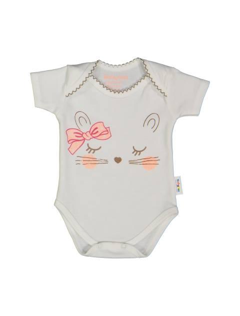 ست 3 تکه نخی نوزادی دخترانه - سفيد/صورتي - 2