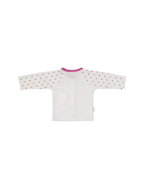 ست 3 تکه نخی نوزادی دخترانه - سفيد سرخابي - 5