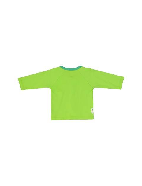 ست 3 تکه نخی نوزادی - سفيد سبز - 5