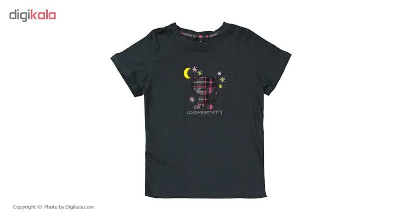 ست تی شرت و شلوار راحتی دخترانه ناربن مدل 1521149-94